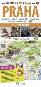 Praha - plán města 1:10000, Foto: Archiv Vydavatelství MCU s.r.o.