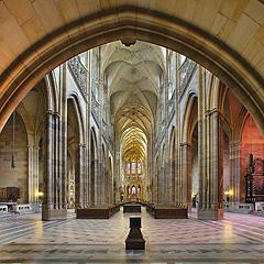 Praha - interiér svatovítské katedrály, Foto: Archiv Vydavatelství MCU s.r.o.