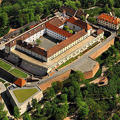 Brno - letecký pohled na Špilberk, Foto: Archiv Vydavatelství MCU s.r.o.