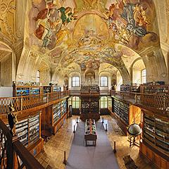 Jižní Morava - Benediktinský klášter Rajhrad - klášterní knihovna, Foto: Archiv Vydavatelství MCU s.r.o.