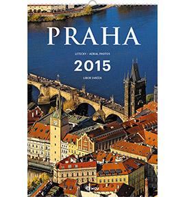 Nástěnný kalendář Praha letecky