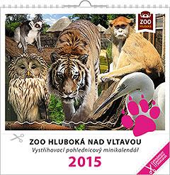 Pohlednicový kalendář ZOO Hluboká nad Vltavou