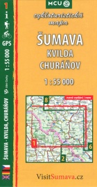 Šumava, Kvilda, Churáňov, cykloturistická mapa 1 : 55 000