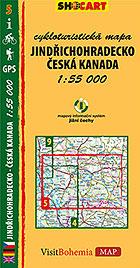 Jindřichohradecko - Česká Kanada, cykloturistická mapa 1 : 55 000