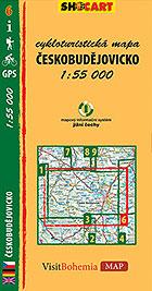 Českobudějovicko, cykloturistická mapa 1 : 55 000