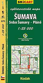 Šumava - Srdce Šumavy - Pláně, cykloturistická mapa 1 : 25 000