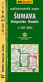 Šumava - Vimpersko, Boubín, cykloturistická mapa 1 : 25 000