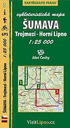 Šumava - Trojmezí, HorníLipno, cykloturistická mapa 1 : 25 000