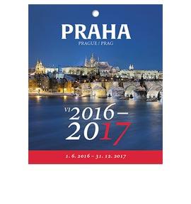 Nástěnný kalendář Praha 1.6. - 31.12.2017