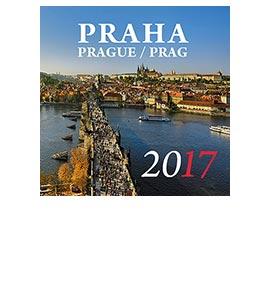 Nástěnný kalendář Praha 2017