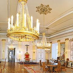 Olomouc - Nádvoří Arcibiskupského paláce - Trůnní sál, Foto: Archiv Vydavatelství MCU s.r.o.