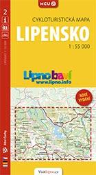 Lipensko, cykloturistická mapa 1 : 55 000