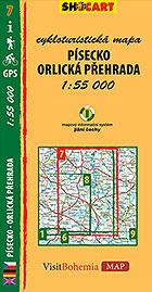 Písecko - Orlická přehrada, cykloturistická mapa 1 : 55 000