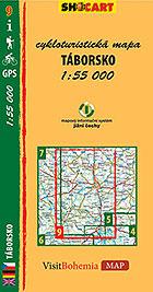 Táborsko, cykloturistická mapa 1 : 55 000