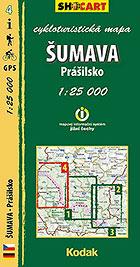 Šumava - Prášilsko, cykloturistická mapa 1 : 25 000