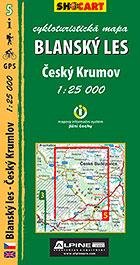 Blanský les, ČeskýKrumlov, cykloturistická mapa 1 : 25 000